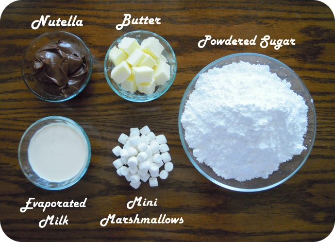 Nutella Fudge Ingredients