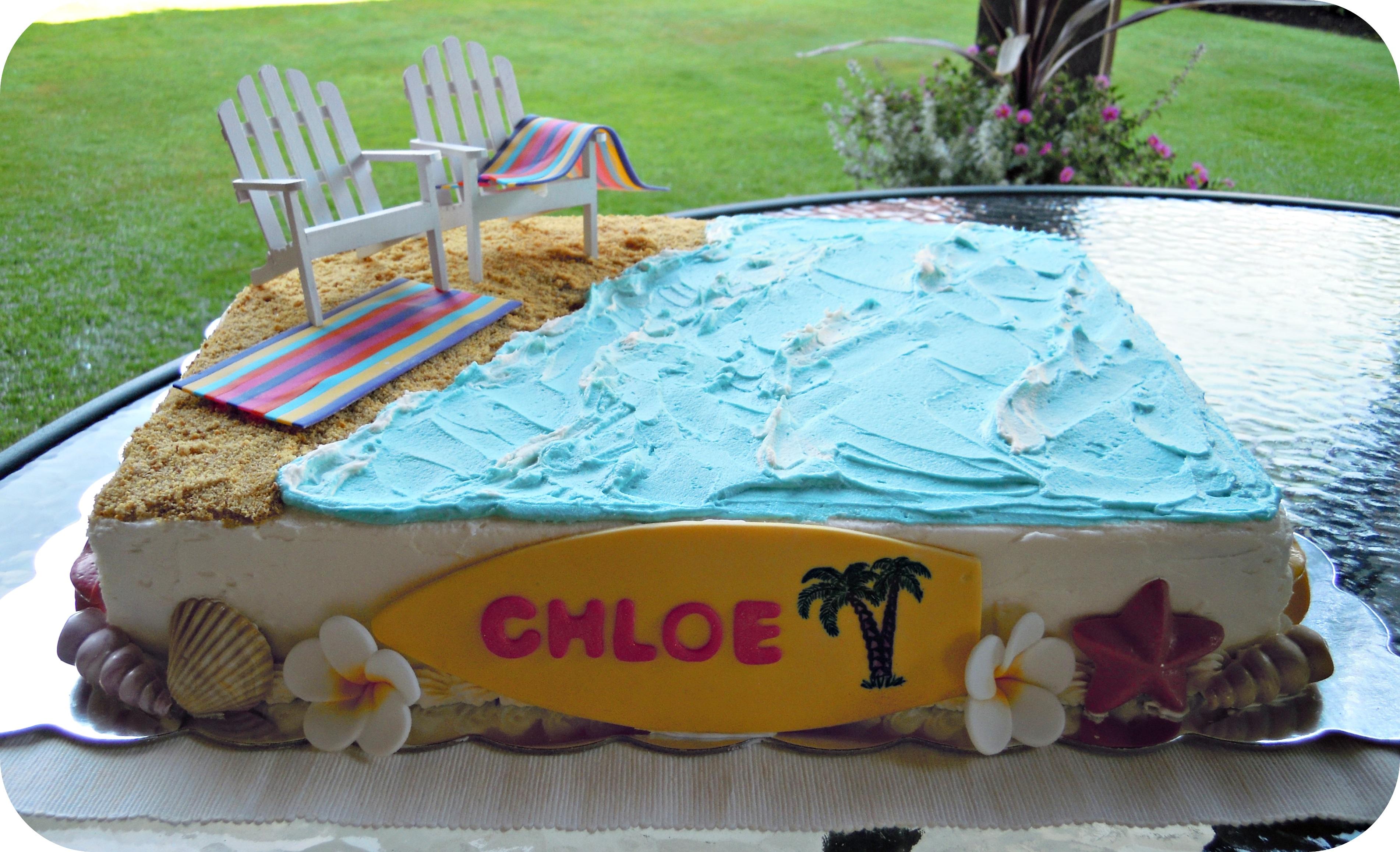 Birthday Beach Cake