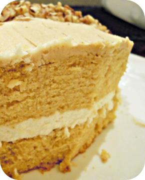 Yam Spice Cake with Cinnamon Buttercream