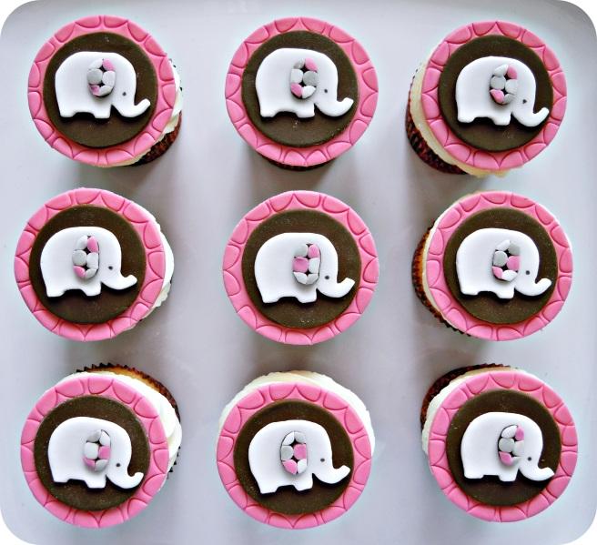 Elephant cupcakes