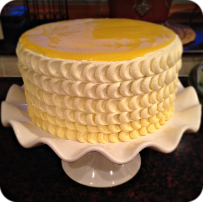 Scalloped Lemon Cake
