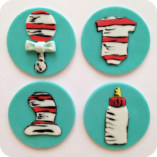 Dr. Seuss Baby Shower Cupcakes